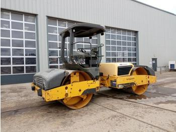 2011 Volvo DD112 Double Drum Vibrating Roller, Canopy - пътен валяк